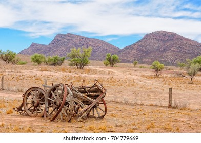 Remnants of an old wagon at Old Wilpena Station in the Flinders Ranges - Wilpena Pound, SA, Australia