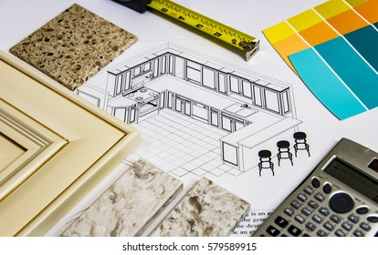 Remodeling selection of kitchen door cabinets, countertops and design
