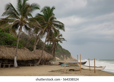 Remote beach in northern Colombia