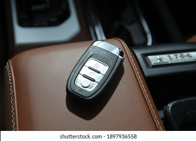 Remote car key car interior