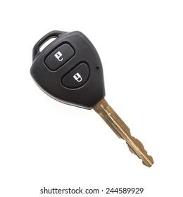 Remote car key isolated on white background