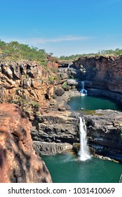 Remote Cascading Mitchell Falls Kimberly Region in North West Western Australia