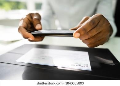 Remote Check Deposit Using Mobile Photo Scanning