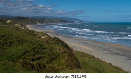 Remote coast of New Zealand South Island