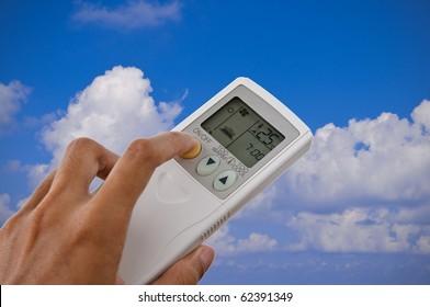 remote control air condition set temperature at 25 degree