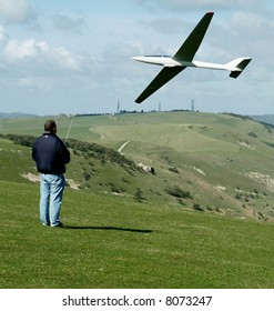 Remote Control of a aircraft in the park