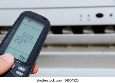 Remote control directed on the air conditioner