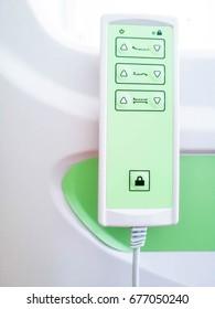 Remote control for hospital bed adjustment