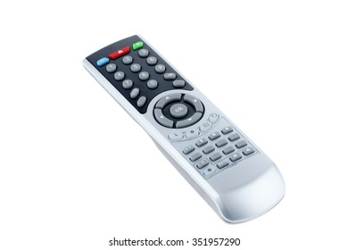 Remote control isolated on white.