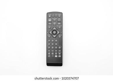 Remote control on white background. Television remote control.