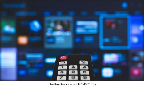 Remote control pointing on Smart TV.