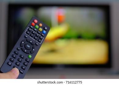 Remote control for satellite receiver box tv hd Thailand. finger push bottom.