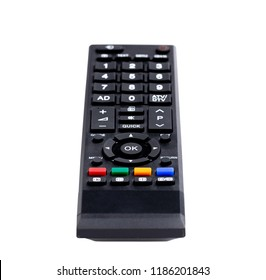 Remote control TV with clipping path isolated on white background