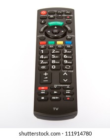 Remote control from TV, VCR, DVD, close up