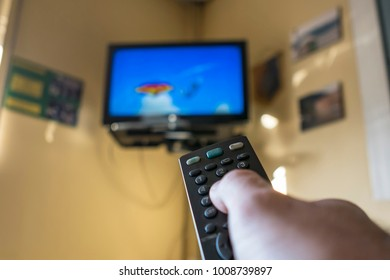 Remote controlling  television