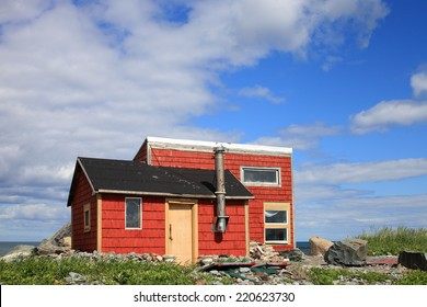 Remote fishing camp on the Atlantic coast of Canada