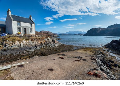 The remote hamlet of Fanagmore on the shores of Loch Laxford in Sutherland in the Scottish Highlands in far northwestern Scotland.