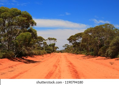 Remote highways in Australian bush