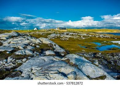 Remote House in Connemara in Ireland