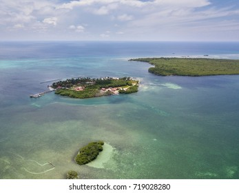 A remote island on the edge of Turneffe Atoll in Belize is home to a beautiful resort. The area supports a wide variety of marine life is not far from the world famous Blue Hole and Lighthouse Reef.