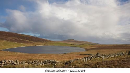 The remote Loch of Grimsetter, Bressay, Shetland, Scotland, UK.