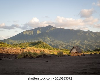 Remote Lone Hut in a Tropical Landscape, Tanna Island, Vanuatu