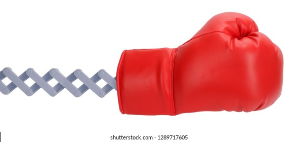 Remote punch by extended boxing glove