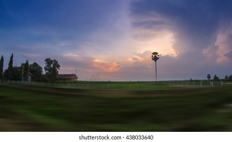 A remote or rural village in Battambang Cambodia December 2016.