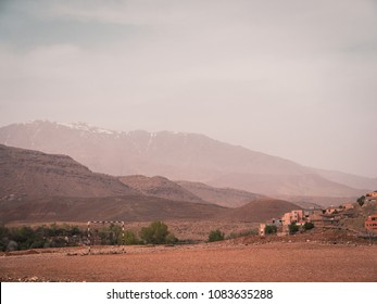 Remote Soccer Pitch in the High Atlas Mountains, Morocco