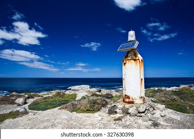 A remote solar powered lighthouse at Kangaroo Island, Australia