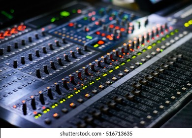 The remote sound engineer. Shallow depth of field.