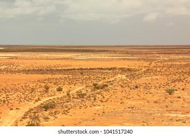 Remote track across Australian desert