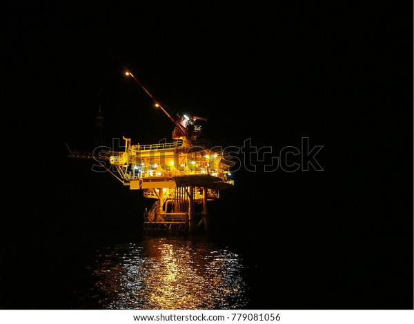 Remote Well Head Platform Oil Gas Stock Photo (Edit Now) 779081056