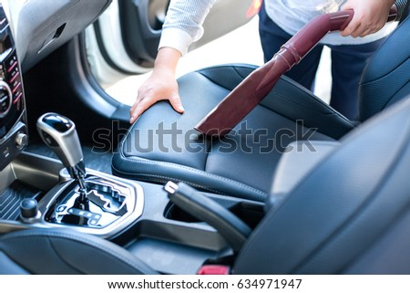 Remove Dust Vacuum Cleaner During Car Stock Photo Edit Now