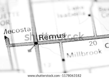 Remus Michigan Map.Remus Michigan Usa On Map Stock Photo Edit Now 1178063182