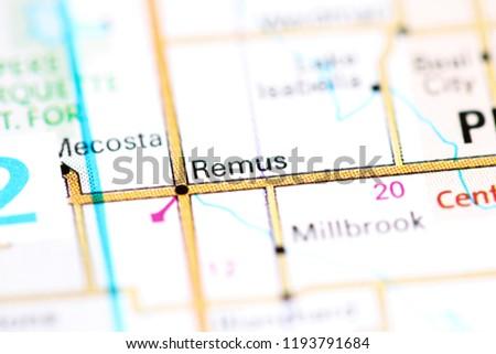 Remus Michigan Map.Remus Michigan Usa On Map Stock Photo Edit Now 1193791684