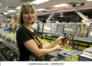 Rena Riffel  at a 'Reviewer.com' in-store appearance to promote her DVD 'Trasharella' going on sale today. Amoeba Records, Hollywood, CA. 02-10-09