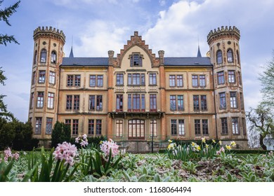 Renaissance castle in Bzenec, small city in Moravia historical region of Czech Republic