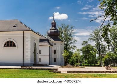 Renaissance castle Chateau Appony in village Oponice, Slovakia - Shutterstock ID 460587274