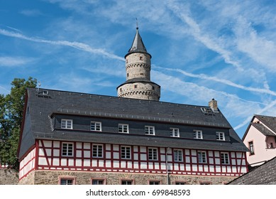 The Renaissance castle Idstein with a witch towe