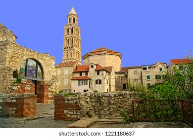 Renaissance church within the perimeter of Diocletian's Palace, Split, Croatia