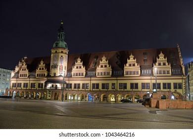 Renaissance city hall in Leipzig/Saxony