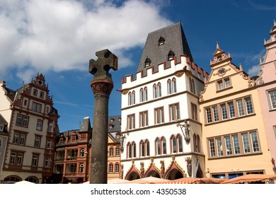 Renaissance facades facing the market square in the ancient German city of Trier