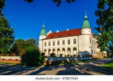 "Renaissance palace in Baranow Sandomierski (Poland), often called ""little Wawel"""