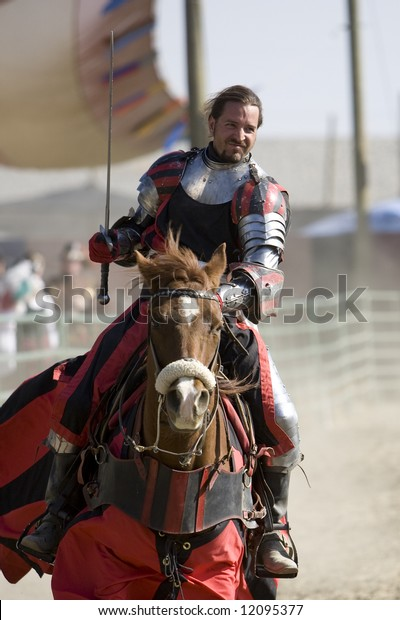 """Renaissance Pleasure Faire, Irwindale, CA 4-26-08:  Performers portraying Knights before the """"Joust to the Death"""" show at the Faire."""