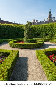 Renaissance style park Prinsentuin and the Martinitoren in the inner city of Groningen, the Netherlands.
