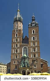 Renaissance Sukiennice (Cloth Hall) in Maly Rinek square in town Krakow Poland