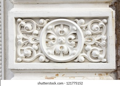 Renaissance Victorian Wall Architectural Detail Background