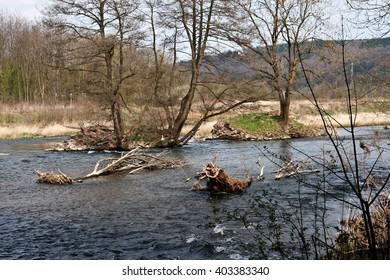 Renaturated Ruhr in Arnsberg North Rhine-Westphalia Germany