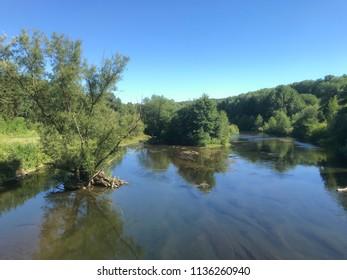 renatured river Ruhr in Sauerland